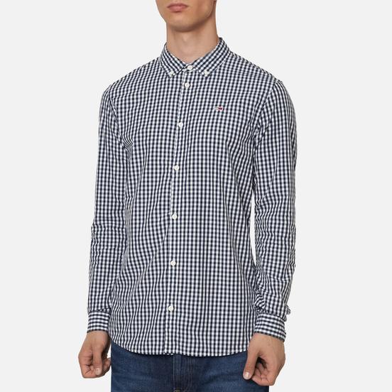 Мужская рубашка Tommy Jeans Poplin Gingham Slim Fit Twilight Navy Check