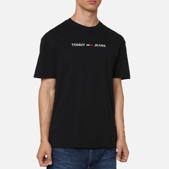 Мужская футболка Tommy Jeans Logo Organic Cotton Jersey Black