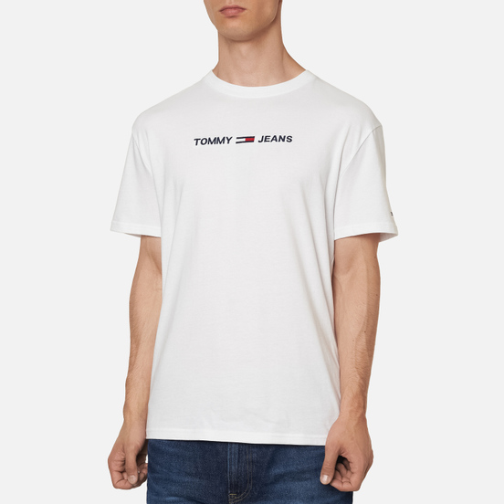 Мужская футболка Tommy Jeans Logo Organic Cotton Jersey White