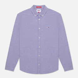 Мужская рубашка Tommy Jeans Stretch Oxford Slim Fit Court Blue