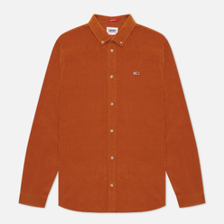 Мужская рубашка Tommy Jeans Corduroy Regular Fit Burned Caramel