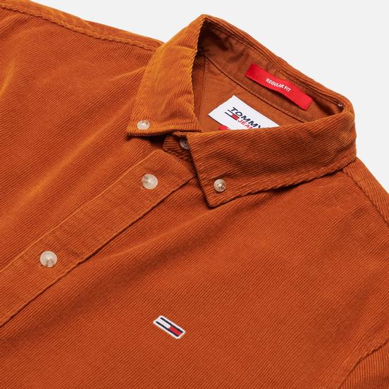 Мужская рубашка Tommy Jeans Corduroy Regular Fit Burned Caramel
