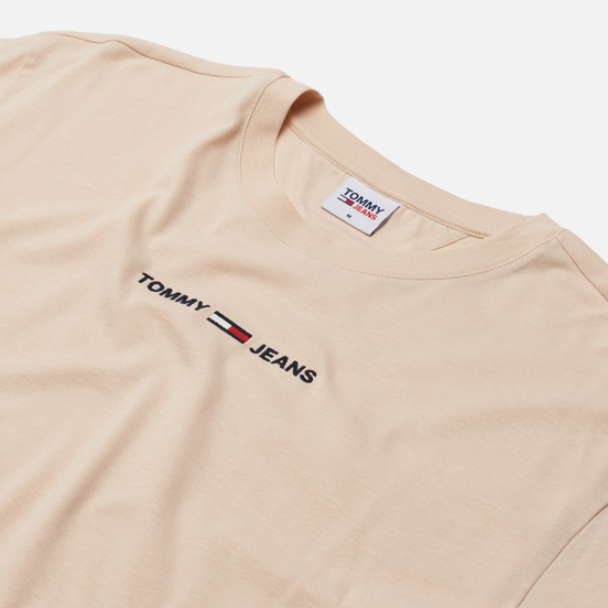 Мужская футболка Tommy Jeans Small Text Logo Embroidery Smooth Stone