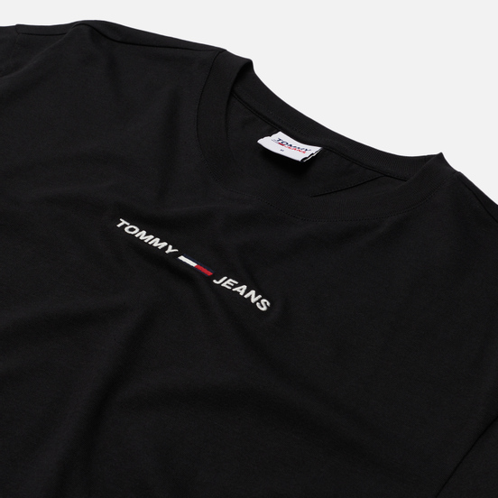 Мужская футболка Tommy Jeans Small Text Logo Embroidery Black