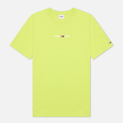 Мужская футболка Tommy Jeans Small Text Logo Embroidery Neo Lime