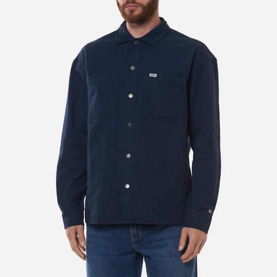 Мужская рубашка Tommy Jeans Lightweight Twill Overshirt Twilight Navy
