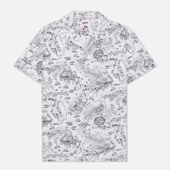 Мужская рубашка Tommy Jeans Miami Tropical Print White