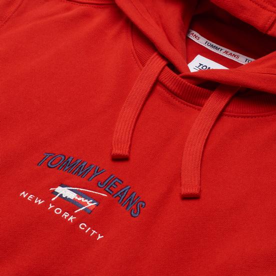 Мужская толстовка Tommy Jeans Timeless Organic Cotton Hoody Deep Crimson