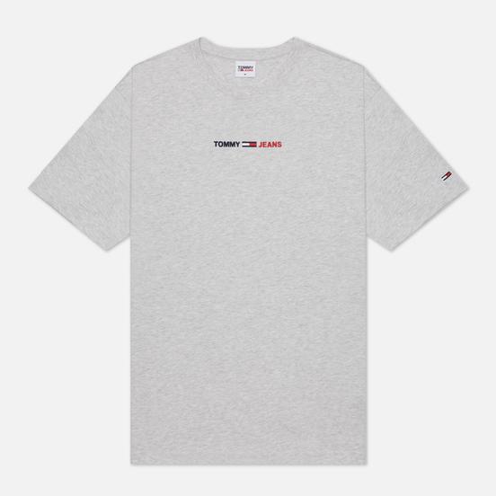 Мужская футболка Tommy Jeans Linear Logo Organic Cotton Silver Grey Heather