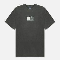 Мужская футболка Tommy Jeans Tonal Flag Faded Organic Cotton Black