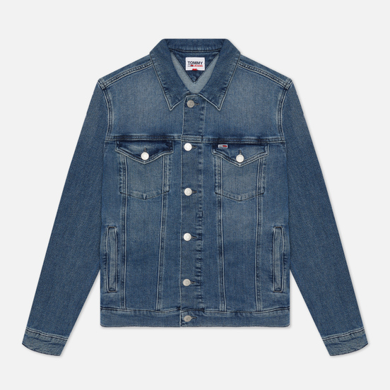 Мужская джинсовая куртка Tommy Jeans Denim 13 Oz Faded Regular Trucker Lincoln Medium Blue