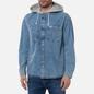 Мужская рубашка Tommy Jeans Denim Hoodie Overshirt Denim Light фото - 3