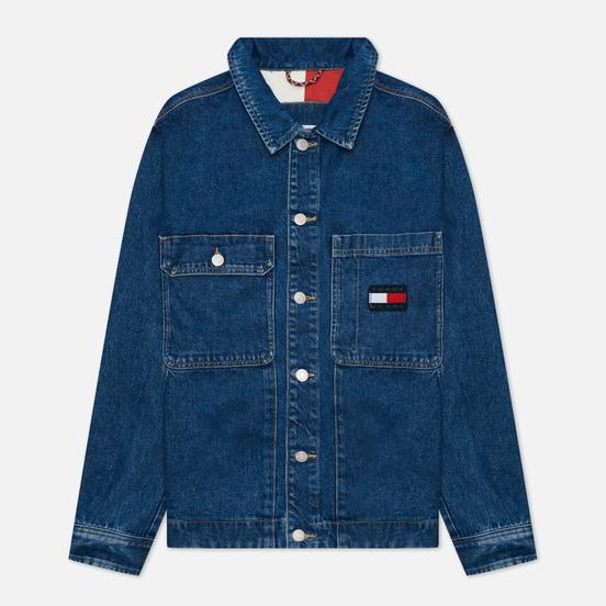 Мужская джинсовая куртка Tommy Jeans Boxy Shirt AE731 Denim Medium