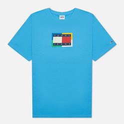 Мужская футболка Tommy Jeans Multicolor Flag Frigid Blue