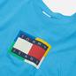 Мужская футболка Tommy Jeans Multicolor Flag Frigid Blue фото - 1