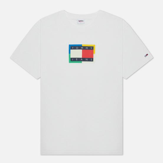 Мужская футболка Tommy Jeans Multicolor Flag White