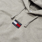 Мужская толстовка Tommy Jeans Badge Organic Cotton Hoodie Light Grey Heather фото - 1