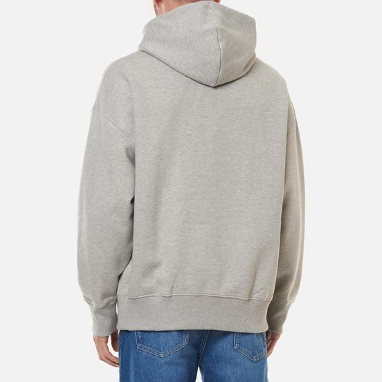 Мужская толстовка Tommy Jeans Badge Organic Cotton Hoodie Light Grey Heather