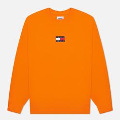 Мужская толстовка Tommy Jeans Badge Organic Cotton Crew Neck Magnetic Orange