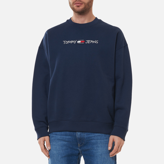 Мужская толстовка Tommy Jeans Seasonal Straight Logo Crew Neck Twilight Navy
