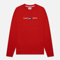 Мужская толстовка Tommy Jeans Seasonal Straight Logo Crew Neck Deep Crimson фото - 0