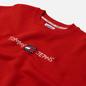 Мужская толстовка Tommy Jeans Seasonal Straight Logo Crew Neck Deep Crimson фото - 1