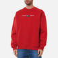 Мужская толстовка Tommy Jeans Seasonal Straight Logo Crew Neck Deep Crimson фото - 2