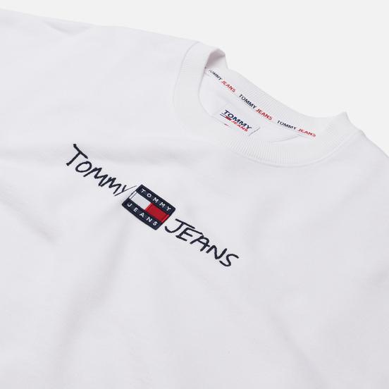 Мужская толстовка Tommy Jeans Seasonal Straight Logo Crew Neck White