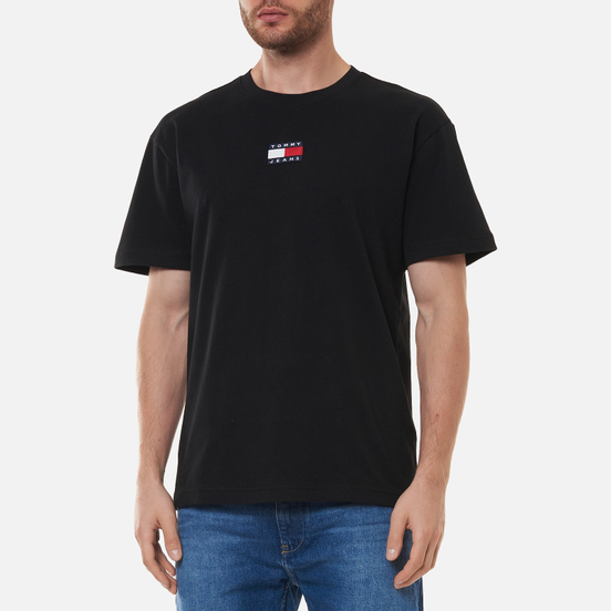 Мужская футболка Tommy Jeans Tommy Badge Pure Organic Cotton Black