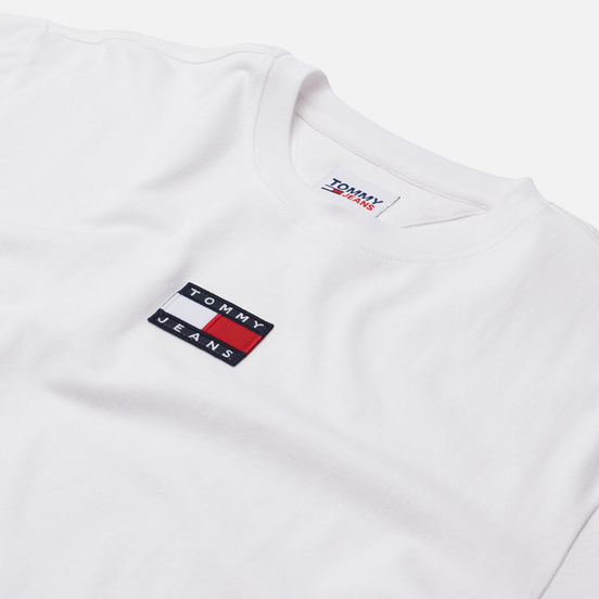 Мужская футболка Tommy Jeans Tommy Badge Pure Organic Cotton White