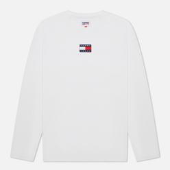 Мужской лонгслив Tommy Jeans Tommy Badge Pure Organic Cotton White
