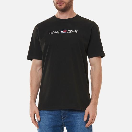 Мужская футболка Tommy Jeans Linear Written Logo Black