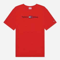 Мужская футболка Tommy Jeans Linear Written Logo Deep Crimson