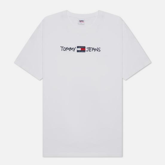 Мужская футболка Tommy Jeans Linear Written Logo White