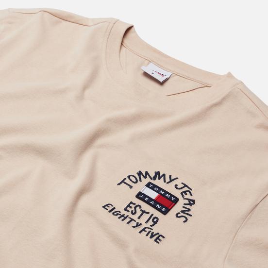 Мужская футболка Tommy Jeans Chest Written Logo Smooth Stone