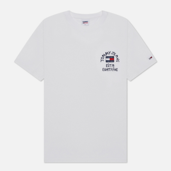 Мужская футболка Tommy Jeans Chest Written Logo White