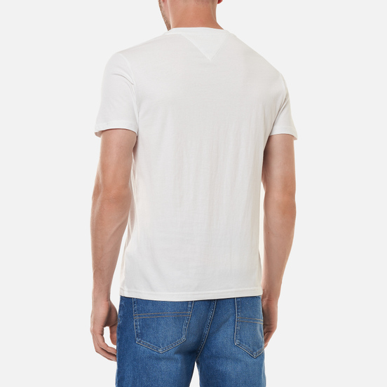 Мужская футболка Tommy Jeans Hand Written Linear Logo White
