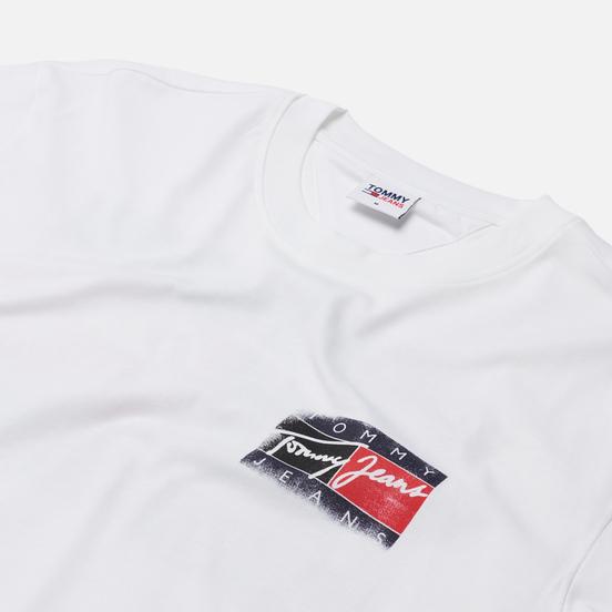 Мужская футболка Tommy Jeans Faded Flag White