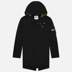 Мужская куртка парка Tommy Jeans Flag Patch Hooded Black