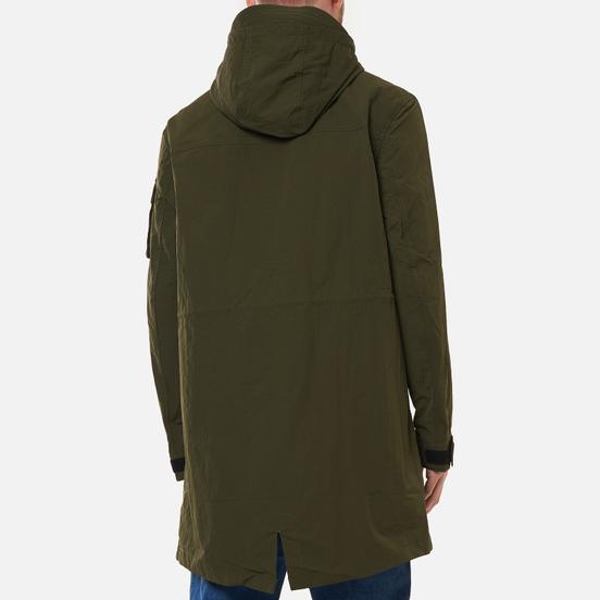 Мужская куртка парка Tommy Jeans Flag Patch Hooded Dark Olive
