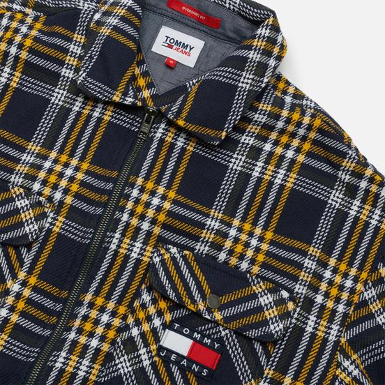 Мужская рубашка Tommy Jeans Check Zip Overshirt Twilight Navy/Multi