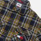 Мужская рубашка Tommy Jeans Check Zip Overshirt Twilight Navy/Multi фото - 1