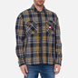 Мужская рубашка Tommy Jeans Check Zip Overshirt Twilight Navy/Multi фото - 2