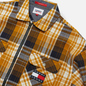 Мужская рубашка Tommy Jeans Check Zip Overshirt Golden Age/Multi фото - 1
