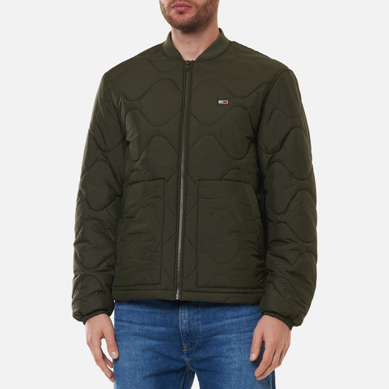 Мужская куртка бомбер Tommy Jeans Quilted Dark Olive