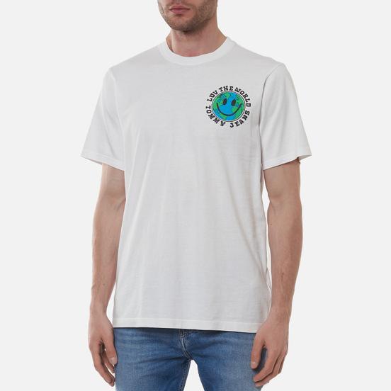 Мужская футболка Tommy Jeans Luv The World Globe Graphic White