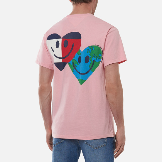 Мужская футболка Tommy Jeans Luv The World Heart Face Iced Rose
