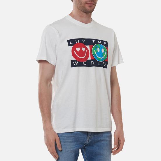 Мужская футболка Tommy Jeans Luv The World Logo White
