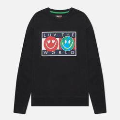 Мужская толстовка Tommy Jeans Luv The World Logo Crew Neck Black