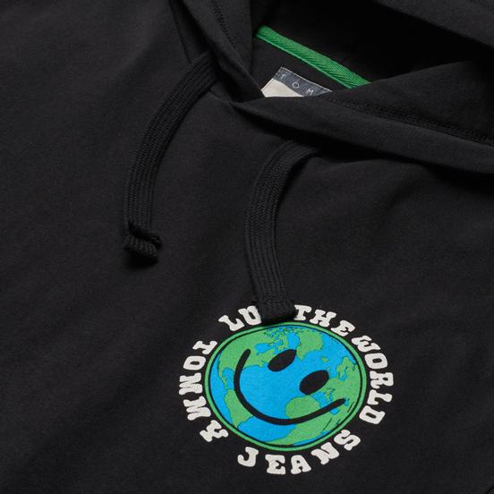 Мужская толстовка Tommy Jeans Luv The World Logo Hoody Black